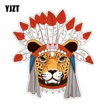 YJZT 16.5CM*15CM Originality Automotive Products Animal Leop