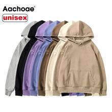 Aachoae Femmes Sweatshirts À Capuche De Couple Sweat Polaire 100% coton Survêtement Sweat Sport 2020 hiver Japonais Décontracté Pull Large