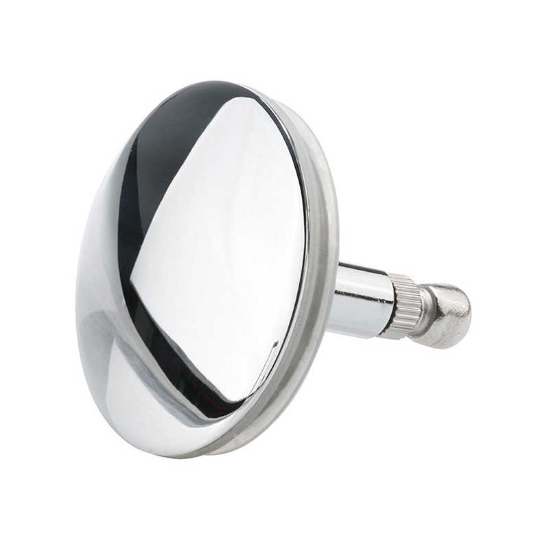 Chrome Bathtub Basin Drain Stopper Plug Bathroom Bath Plug Bathtub Drain Silver-ABFP