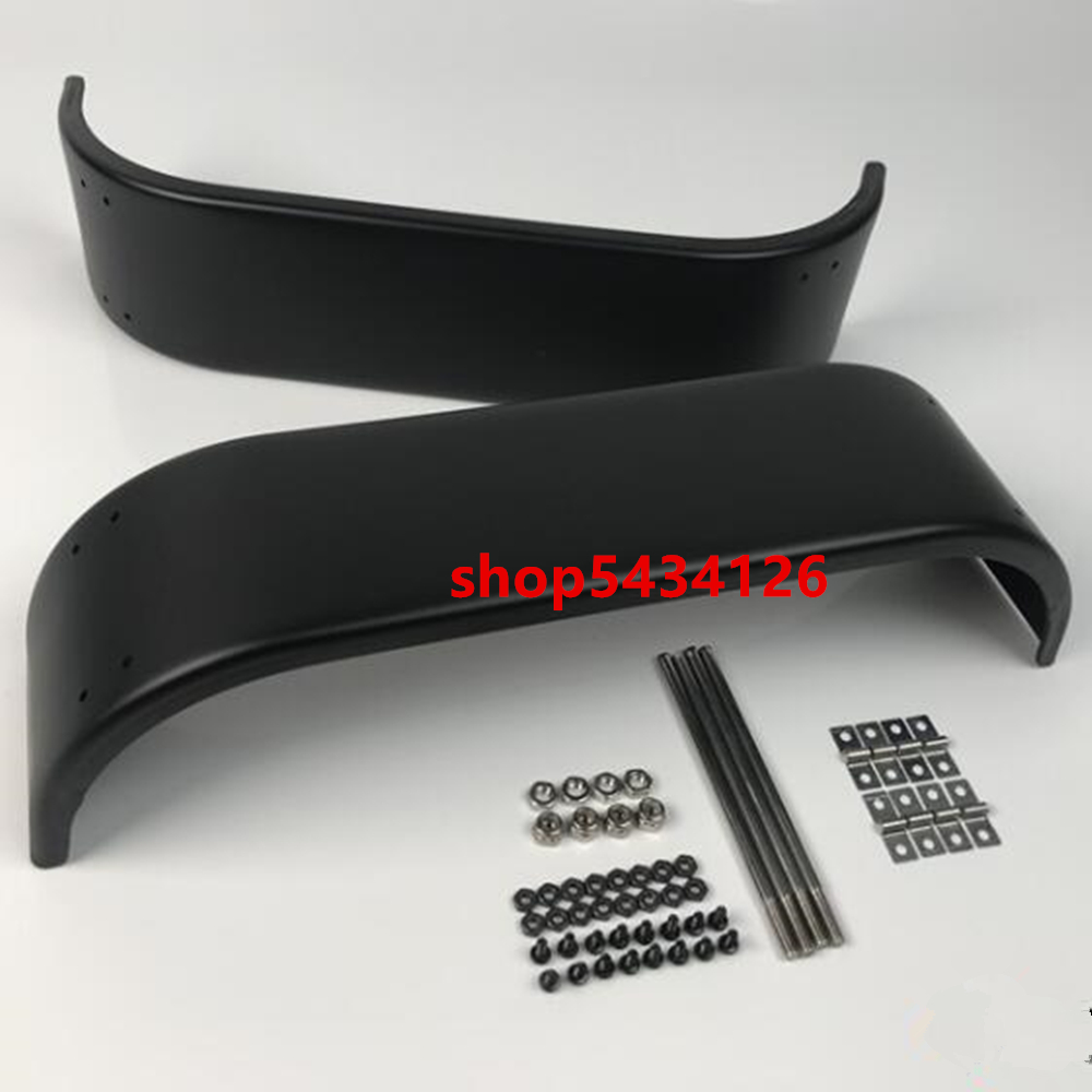 Metal Rear Fenders Mud Guard For 1/14 <font><b>Rc</b></font> Tractor Trailer <font><b>Tamiya</b></font> Arocs Benzz 3348 <font><b>Dump</b></font> <font><b>Truck</b></font> image