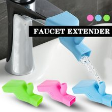 Creative Splash-proof Faucet Extender For Children Toddler Kids Hand Washing Silicone Tap Kitchen Bathroom Faucet Accessories(China)