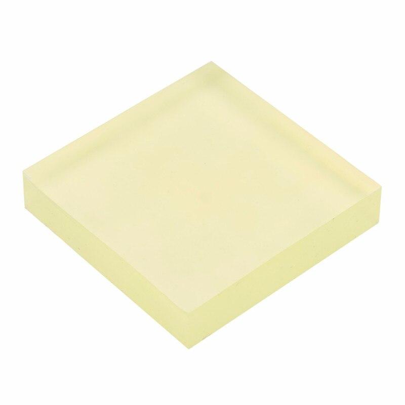 Полиуретановая демпфирующая пластина, полиуретановая квадратная пластина, пластина для резки говяжьего сухожилия, эластичная резиновая пластина золотого цвета 10x10x2cm