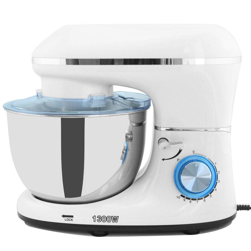 1300W 5.5L Stainless Steel Bowl 10-speed Kitchen Food Stand Mixer Cream Egg Whisk Blender Cake Dough Bread Mixer Maker Machine