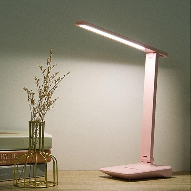 Led Desk Lamp Built In Battery 3 Colors, Folding Desk Lamp Dimmable