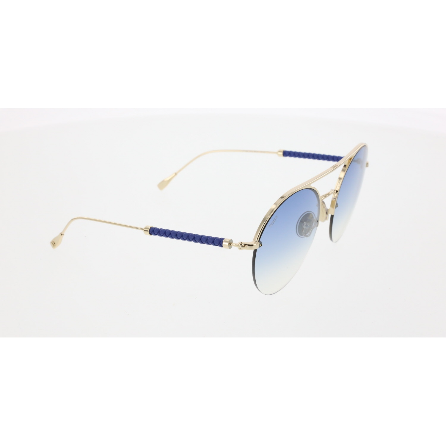 Unisex sunglasses to 0249 32w metal gold organic oval Round 56-20-140 tods