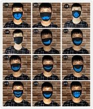 1Pcs Lichtgevende Mond Masker Stof Masque Drie Lagen Zwarte Anime Katoen Ayo En Teo Maskers Voor Kids Man vrouw
