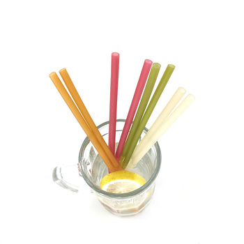 Biodegradable Drinking Straw Kitchen Bar Tool Cold Drink Straws Colorful Edible Disposable Rice Straw Bar Accessories 2019 image
