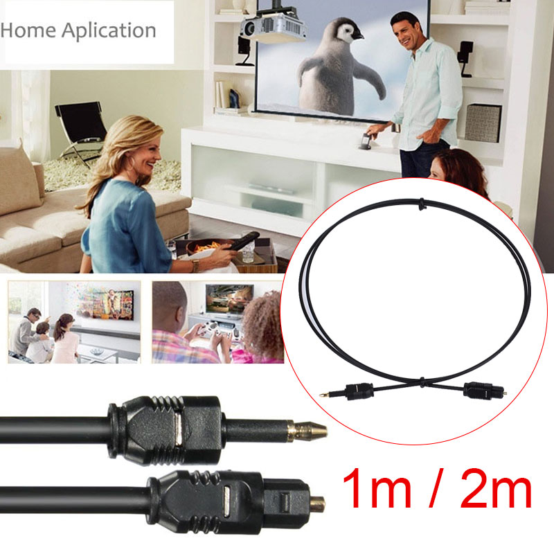 1M/2M Digital Sound Toslink to Mini Toslink <font><b>Cable</b></font> <font><b>3.5mm</b></font> SPDIF <font><b>Optical</b></font> Fiber Line To Round Mouth <font><b>Optical</b></font> <font><b>Audio</b></font> Connector image