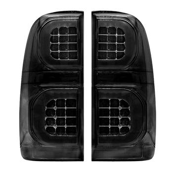 Smoke Led Tail Light For Toyota Hilux Vigo KUN26 SR SR5 Workmate 2008-2012 Taillight Rear Reverse Brake Light Fog Lamp Drl