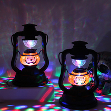 1pc Halloween Decorative Lights Pumpkin Lantern Candies Decoration Lamp Festival Holiday Bar Party LED Home Props
