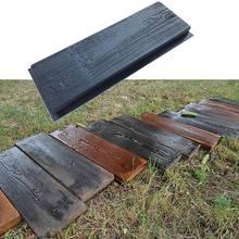 Molde de ladrillo de cemento para pavimentación de caminos, molde de hormigón para pavimento de camino, bricolaje, grano de madera de imitación