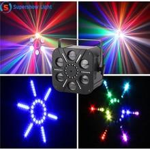 Moonflower RGBWA Singolo Colore HA CONDOTTO Fascio di Luce 6 Combinazione Occhi del DJ Della Luce
