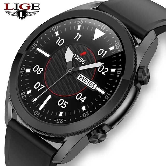 LIGE 2020 New Bluetooth Phone Smart Watch Men Sports Fitness Watch Health Tracker Weather Display Waterproof smartwatch Women