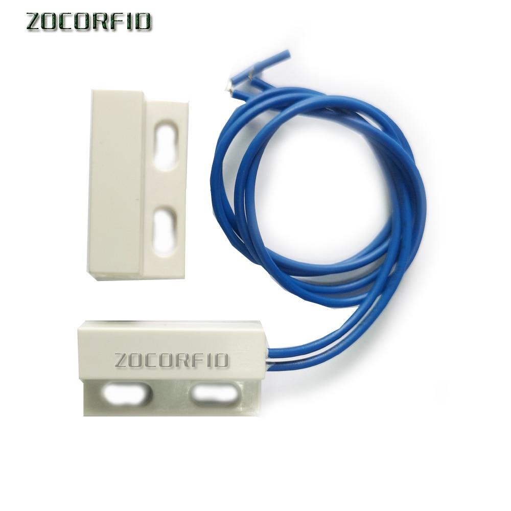 Interruptor de sensor magnético de porta, com fio de janela, funciona AC85-220V com ptsn e gsm, sistema de alarme e armário