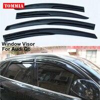 tommia Fit For Audi Q5 10-18 4pcs Window Visor Shade Vent Wind Rain Deflector Guards Cover