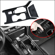 Wooeight 2Pcs Car Interior Carbon Fiber Style Gear Shift Box Panel Cover Trim Decal Sticker Frame fit for Honda Accord 2018 2019 цены