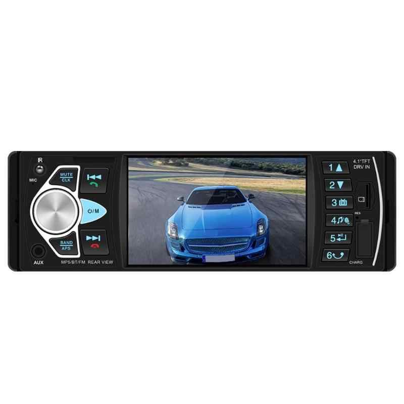"4022D 1 Din Car Multimedia Player 4.1 ""Bluetooth Mobil Stereo MP5 Player Autoradio FM Radio USB AUX TF Kartu cadangan Kamera"