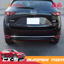 For Mazda CX 5 CX5 2017 2018 2019 2020 KF Car Rear Door Trunk Box Bottom Chrome Trim Tail Bumper Strips Stickers Cover Styling