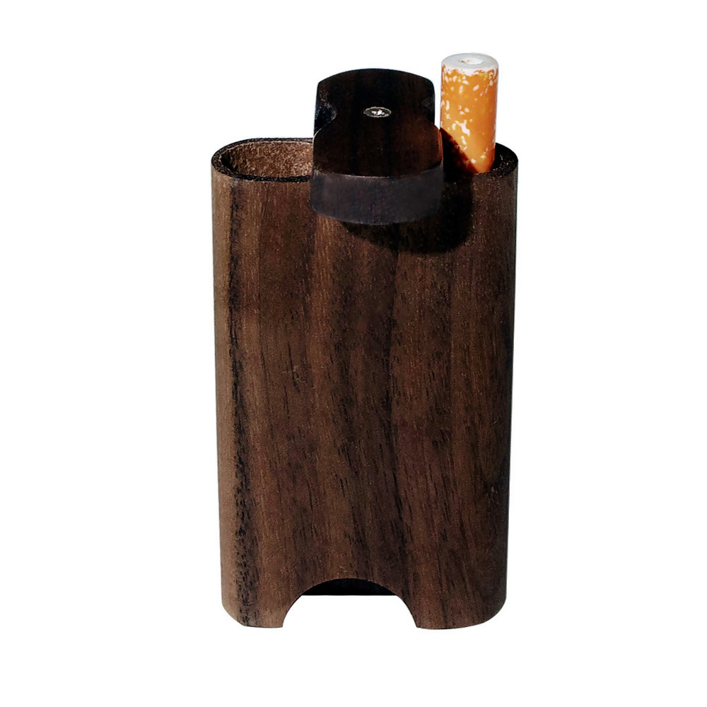 Курно из натурального дерева Dugout с керамической один htter летучая мышь трубы 46*78 мм Мини Деревянный Dugout Box дымовая труба аксессуары