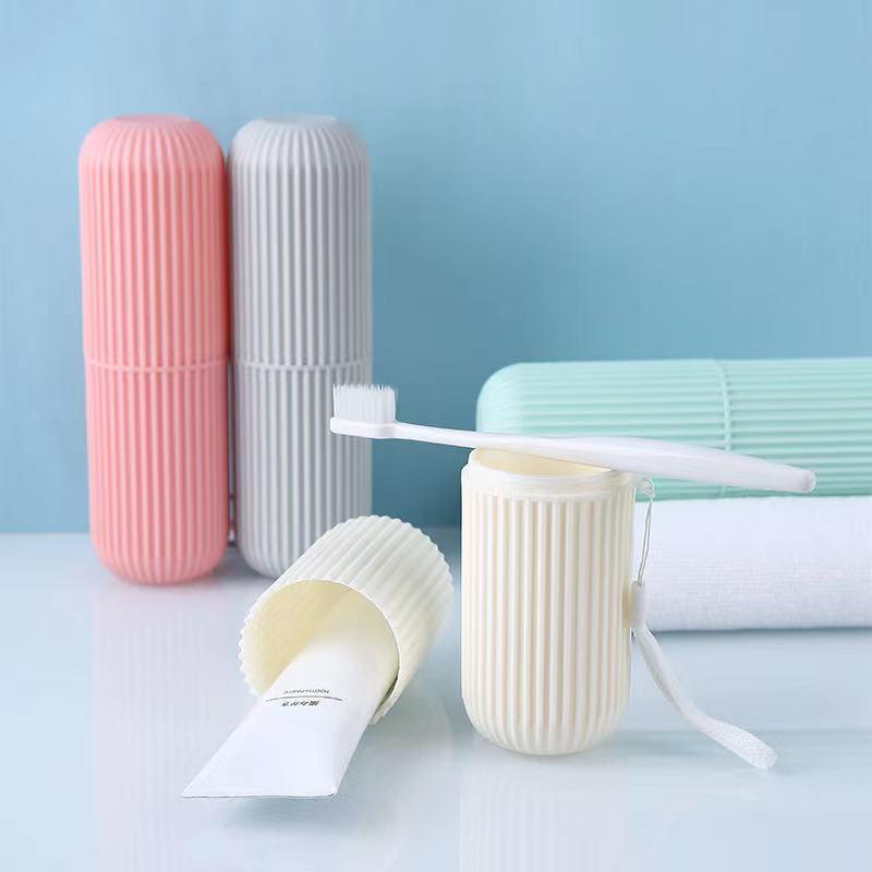 Outdoor travel toothbrush wash cup creative portable toothbrush box with lid toothpaste storage bucket toothbrush cup