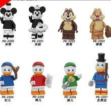 Legoed мультфильм Микки Минни чип и Дейл строительные блоки фигурки Детские Подарочные игрушки