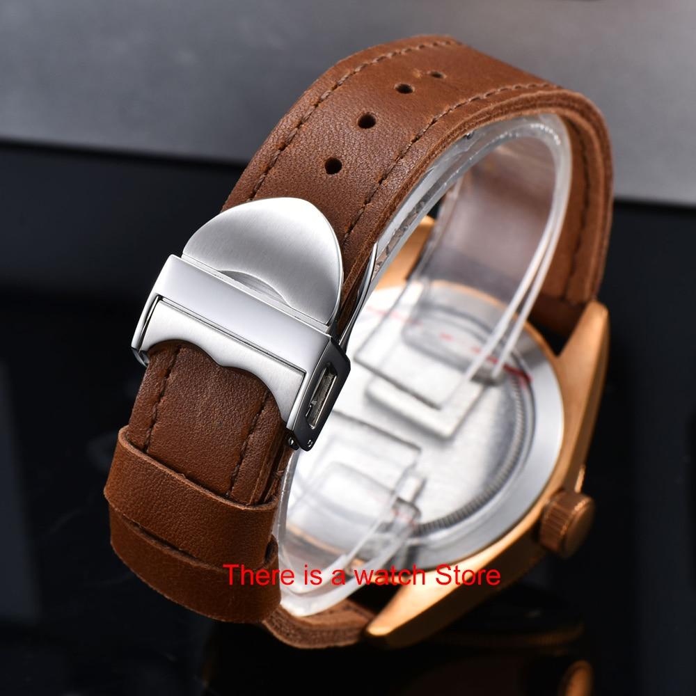 H21a91d90023140899dc142d4559f6fabN Corgeut 41mm Automatic Watch Men Military Black Dial Wristwatch Leather Strap Luminous Waterproof Sport Swim Mechanical Watch