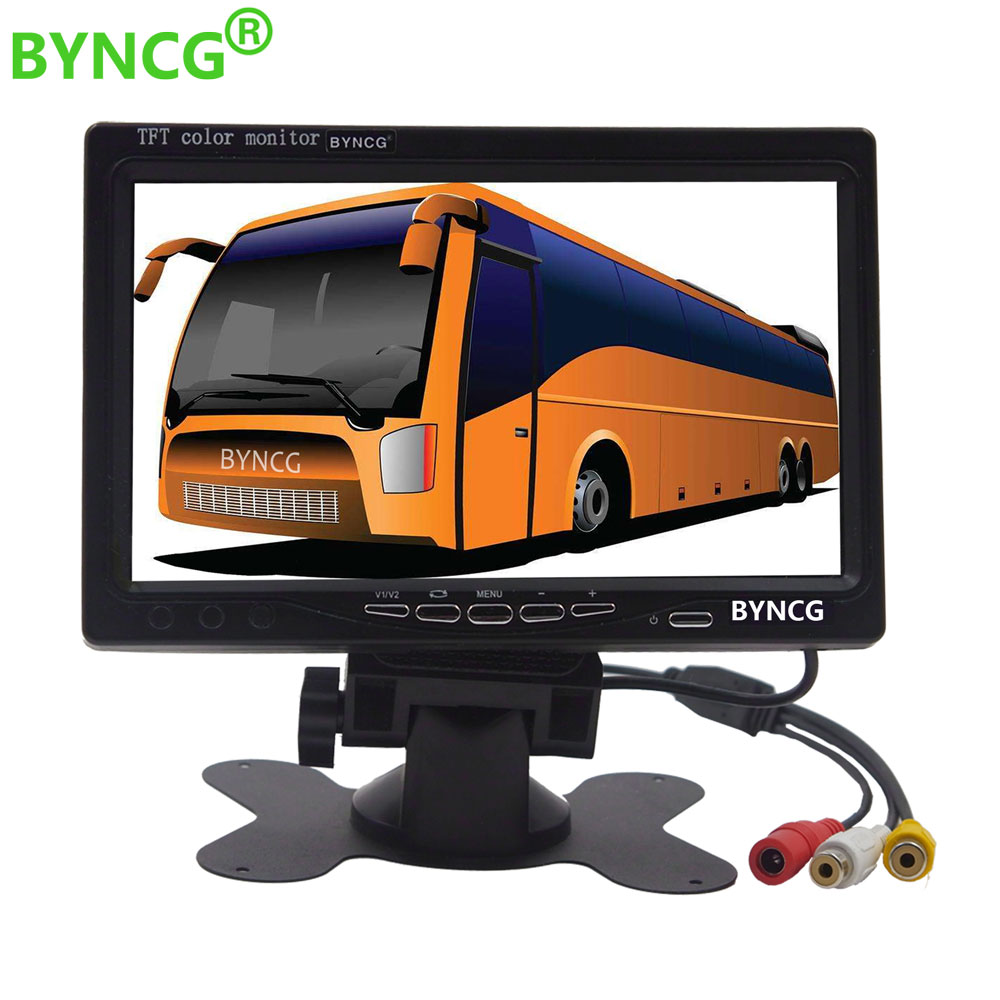 BYNCG 7'' Color TFT LCD Monitor Car Rear View Monitor Rearview Display Screen for Vehicle Backup Camera Parking Assist System(China)