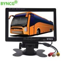 BYNCG 7 צבע TFT LCD צג רכב צג אחורי אחורית תצוגת מסך עבור רכב גיבוי המצלמה חניה לסייע מערכת