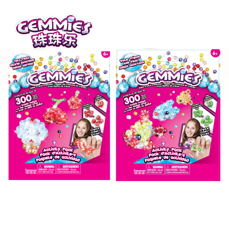 Gemmies Beads Music Workshop Children Creative DIY Handmade For Making GIRL'S Toy Beaded Bracelet Sub-Activity Bag