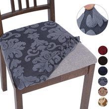 Spandex Cushion-Pad-Cover Jacquard Chair Stretch Wedding-Decoration Livingroom Home Protect
