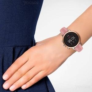 Image 5 - Fosil Girişim saat kayışı 18mm Tutuşunu Klasik Deri Gül Toka Kadınlar için Bilek Kayışı Fosil Q Girişim Gen 3/Gen 4