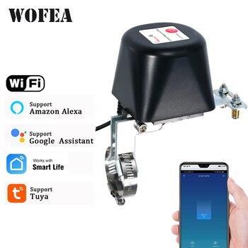 Wofea Tuya, controlador de válvula inteligente Wifi para tubería de Gas, Apagado automático, Compatible con asistente de Google Alexa SmartLife