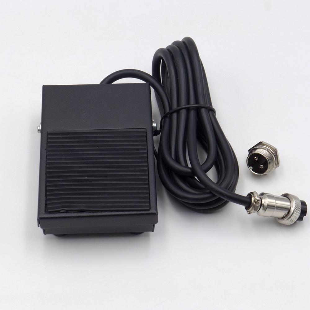 Free Your Hand Metal Foot Pedal Foot Switch 1.8 Meters Cable 2 Pins Connector Spot Welding Switch Tig Torch