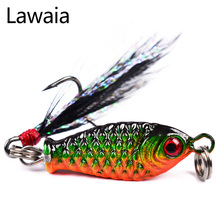 Lawaia Fishing Lure 2.5cm/5.2g 8# Fish Hook Feathered Lead Road 4 color optional Full Water System Bait Tackle