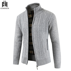 2019  Brand New Fashion Thick Sweaters Cardigan Coat Men Slim Fit Jumpers Knit Zipper Warm Winter Business Style Men Clothes 1