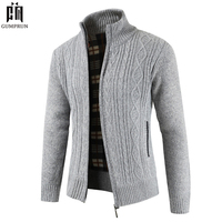2019 Brand New Fashion Thick Sweaters Cardigan Coat Men Slim Fit Jumpers Knit Zipper Warm Winter Business Style Men Clothes