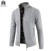חדש לגמרי אופנה עבה סוודרים קרדיגן מעיל גברים Slim Fit מגשר לסרוג רוכסן חם חורף עסקי סגנון גברים בגדים