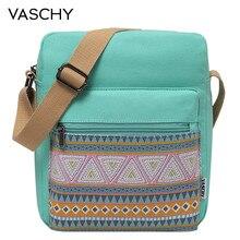 VASCHY Shoulder Bags for Girls Vintage Canvas Small Bag for Women Lightweight Crossbody Bag Messenger Bag with Inner Side Pocket