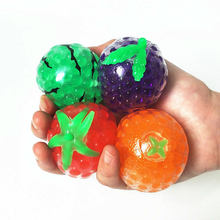 Free Ship Fruit Jelly Water Squishy Pop It Fidget Stress Reliever Toys fruit Grape gifts squishy ball funny Autism toys