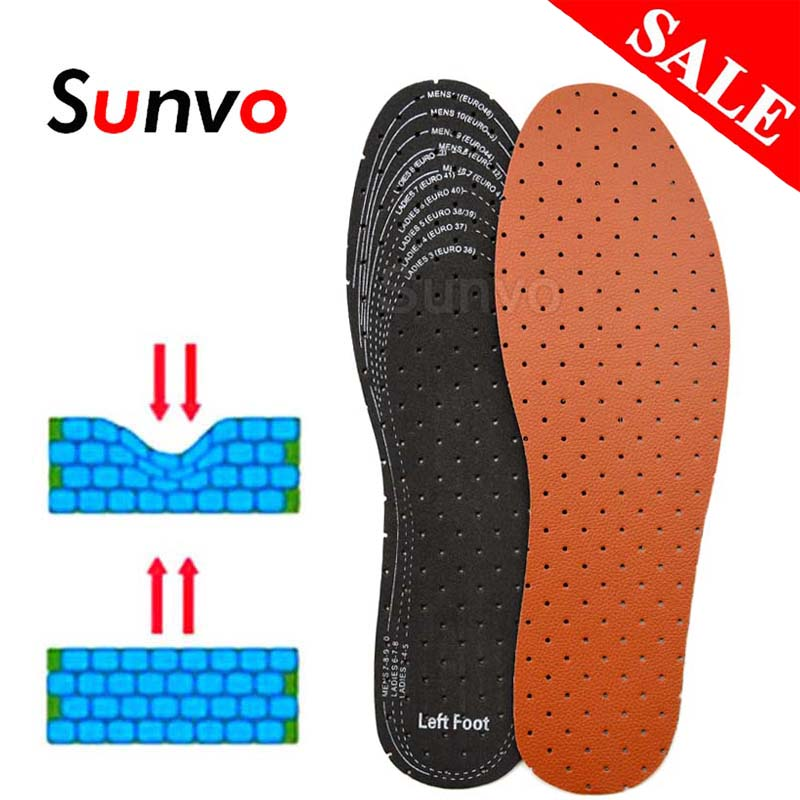 EVA Leather Insoles For Men Women Soft Breathable Deodorant Absorb Sweat Inner Shoes Pads Inserts Replacement Sole Dropshipping