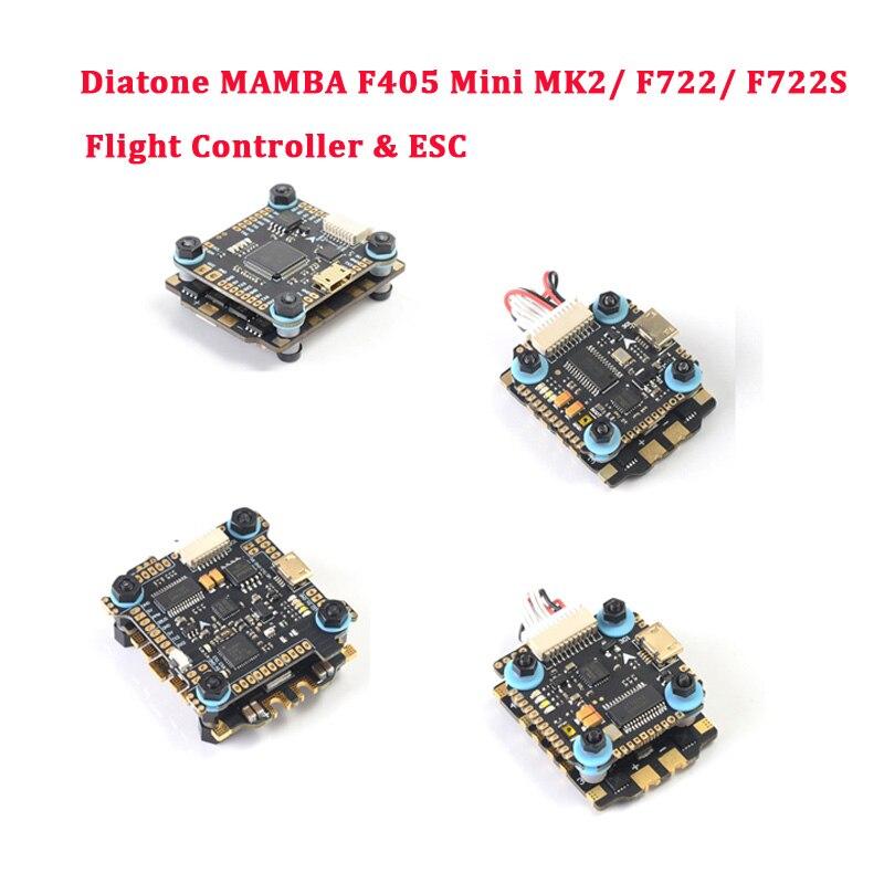 Diatone MAMBA F405 Mini MK2/F722/F722S Betaflight Contrôleur De Vol et F40 40A/F25 50A Brushless ESC Pour RC Drone Pièces