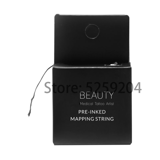 Pre-Inked Brow Mapping String 10Meters Microblading, Microshading Cosmetic Tattooing Tool for Permanent Makeup Eyebrow Measuring 3