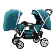 Shenma коляска детская для двойни ребенка Коляска хорошего качества ускоренная доставка
