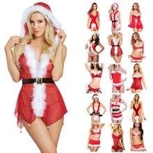 Natal sexy lingerie mulher rendas babydoll roupa de noite roupa interior exótica cosplay papai noel chapéu roupas babydoll vestido lingerie