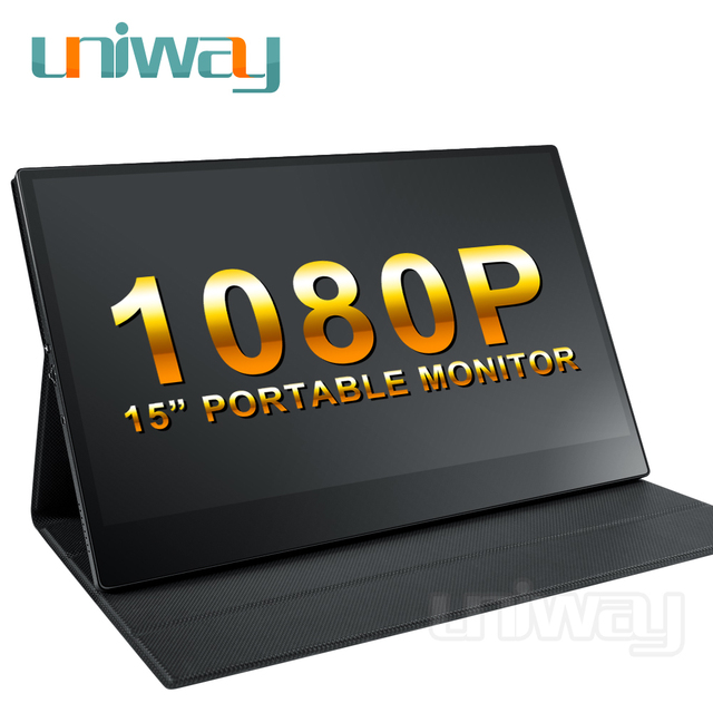 Uniway 15.6 portable monitor 1080 IPS screen USB Type C HDMI display for PC laptop Ps4 Switch Xbox gaming monitor