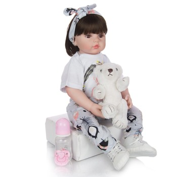 high quality 60cm big reborn toddler princess doll Silicone vinyl adorable girl toddler Lifelike Bonecas bebe reborn menina