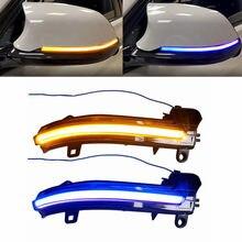 2 Pcs Espelho Lateral Do Carro Dinâmico Flash Seqüencial Turn Signal Luz Âmbar Para BMW F20 F21 F22 F30 F31 F35 F80 F32 F33 F36 F82 X1 I3