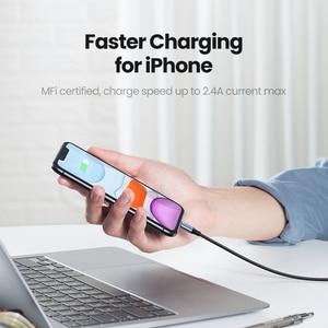 Image 2 - Câble USB UGREEN MFi pour iPhone 12 Mini 2.4A câble de charge rapide pour iPhone 12 Pro Max X XR 11 8 7 câble de chargeur de téléphone
