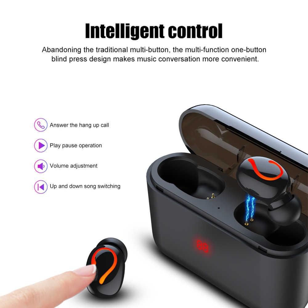 Q32 TWS Bluetooth 5,0 auriculares HBQ auriculares inalámbricos deportivos manos libres auriculares estéreo 3D para juegos con caja de carga de micrófono