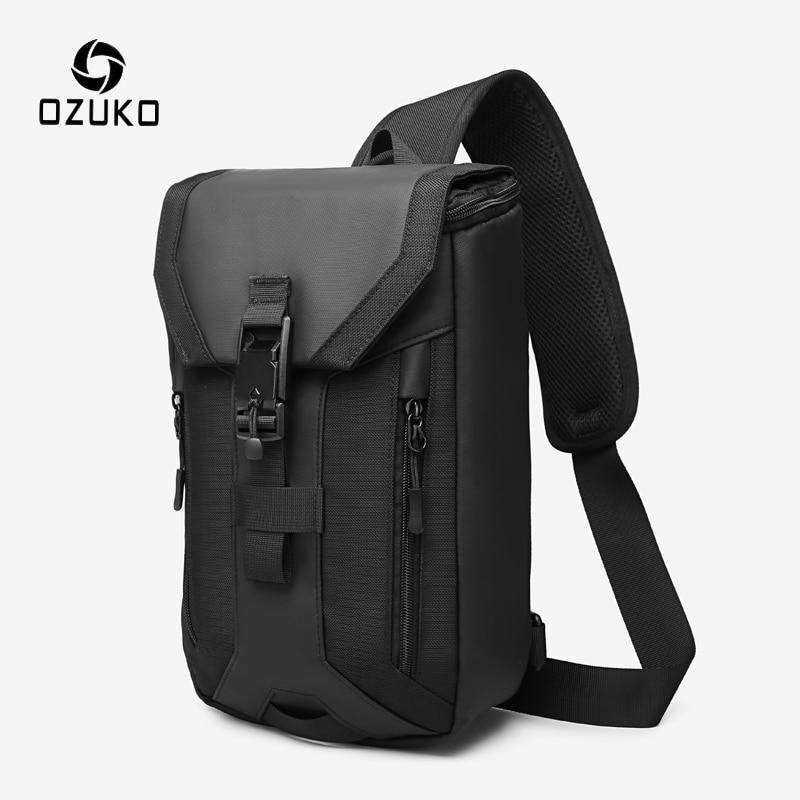 OZUKO, nuevo bolso para hombre, bolso cruzado multicapa, bolso de hombro impermeable de alta calidad, bolso mensajero masculino para adolescentes, bolsos de eslinga para hombres